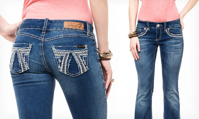 Seven7 Women&39s Flare and Boot-Cut Jeans  Groupon