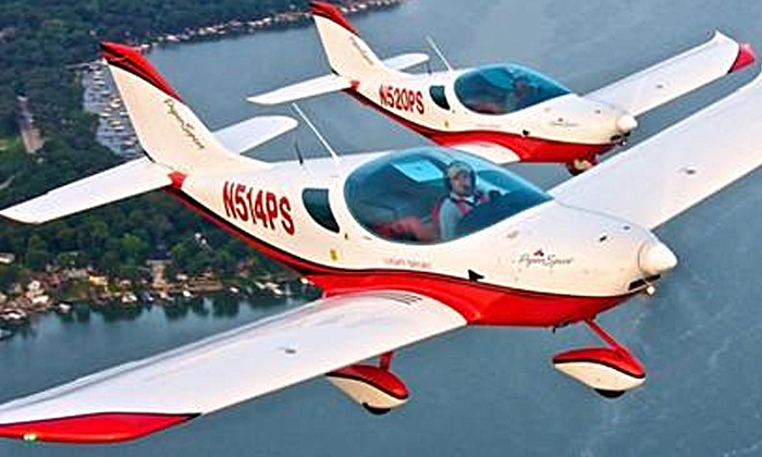 Sport Flying USA - Shirley: Discover Flying Lesson or Adventure Flight Lesson from Sport Flying USA (Up to 63% Off)