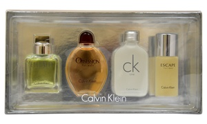 Calvin Klein 4-piece Mini Fragrance Set For Men; 0.5 Fl. Oz. Each