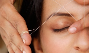 Tutiya Threading: Threading for Eyebrows and Lip, Chin, or Forehead at Tutiya Threading ($18 Value)
