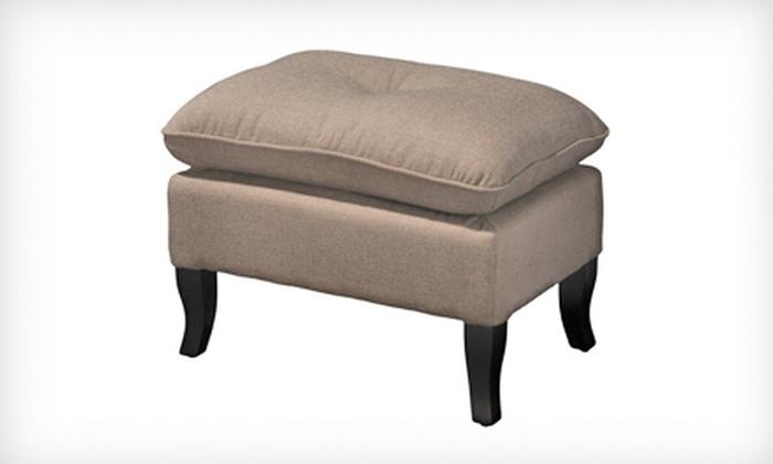 Draycott Beige Fabric Ottoman: $69 for a Draycott Beige Fabric Ottoman ($139.99 List Price). Free Shipping.