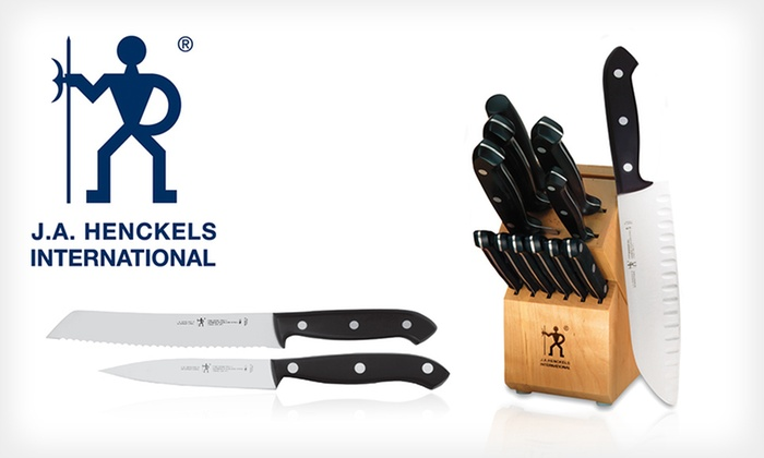 JA Henckels 13-Piece Knife Set: $69 for a JA Henckels Fine Edge Pro II 13-Piece Cutlery Set with Block ($179 List Price). Free Shipping and Returns.