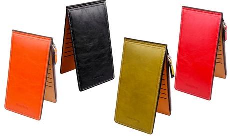 Porta carte di credito con zip. Vari colori disponibili