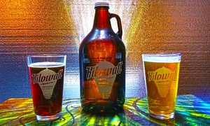 Kilowatt Brewing: Souvenir Pint Glasses for Two or Four with Two Full Pours Per Person at Kilowatt Brewing (50% Off)