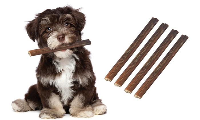 6 or 12 bully sticks dog treats groupon. Black Bedroom Furniture Sets. Home Design Ideas