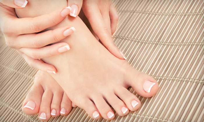 Nails Design - Kent: One or Two Mani-Pedis with Foot Massage at Nails Design (Up to 65% Off)