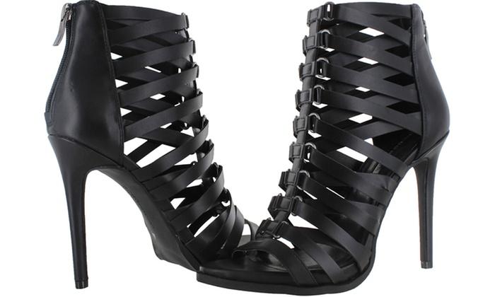 BCBG Elvin Women's Caged Gladiator Heels | Groupon