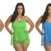 Women's Plus-Size One-Piece Fringe Swimsuit