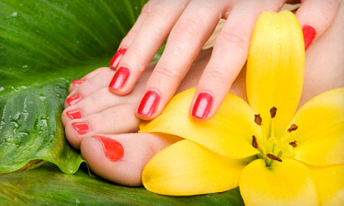 Taj Salon - Albuquerque: One or Three Taj Manicures and Pedis Straight Up at Taj Salon (Up to 57% Off)