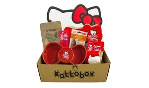 Kattobox: Kattobox 6, 7 u 8 productos para gatos edición especial Hello Kitty con los gastos de envío incluidos desde 16,95 €