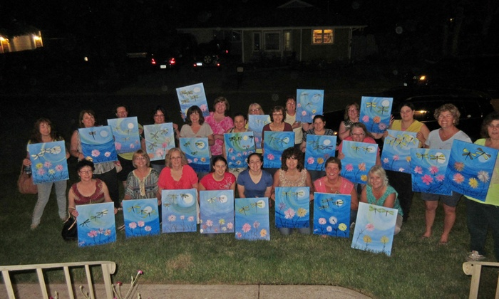 Happy Little Brush Strokes - East Patchogue: Up to 54% Off Painting Party at Happy Little Brush Strokes