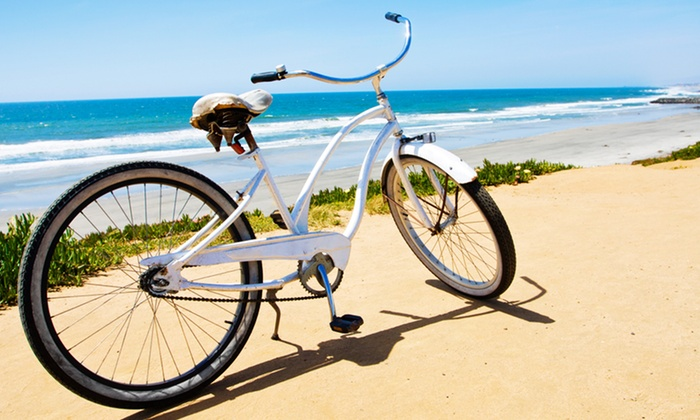 Venice Beach Electric Bike Rentals - Marina Del Rey: One or Two Full-Day Beach Cruiser Biker Rentals from Venice Beach Electric Bike Rentals (Up to 45% Off)