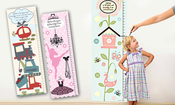 Kids' Growth Chart Wall Decals: Kids' Growth Chart Wall Decals. Multiple Styles Available. Free Returns.