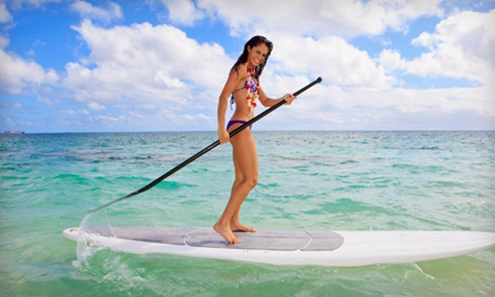 Atlantic Boat and Jet Ski Rentals - Pompano Beach Park: Two Hours of Standup Paddleboarding for One or Two from Atlantic Boat and Jet Ski Rentals (Up to 53% Off)
