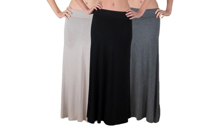 3-Pack of Free to Live Women's Maxi Skirts
