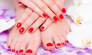 Look Nail Salon & Spa: $43 for Deluxe Spa Pedicure with Deluxe or No-Chip Manicure at Look Nail Salon & Spa (Up to $99 Value)