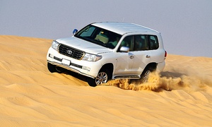 Green Land Tourism: Full-Day Desert Safari With Dinner, Dune Bashing and Camel Ride from AED 89 With Green Land Tourism (Up to 63% Off)