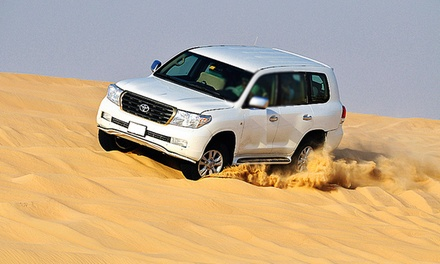 Full-Day Desert Safari With Dinner, Dune Bashing and Camel Ride from AED 89 With Green Land Tourism (Up to 63% Off)