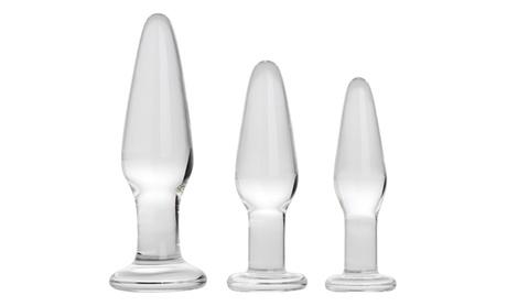 Beginner Glass Anal Plug Kit (3-Piece) 77058c5e-69a4-11e8-b2a7-002590604002