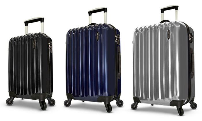 Visionair 3-Piece Luggage Set: Visionair 3-Piece Luggage Set in Black, Navy, or Silver. Free Shipping and Returns.