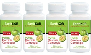 60 Capsules of Earth KOR Pure Garcinia Cambogia (1- or 4-Pack)