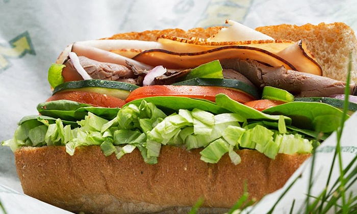 Subway - Upper West Side: $32.95 for Five Groupons, Each Good for One 6-Inch Subway Meal Deal at Subway (Up to $54.55 Value)