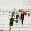 Urban Designs Handcrafted Metal Grapes Wall Wine Rack