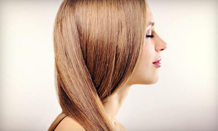 Sara Nohemy at Marina's - Bonita Springs: Keratin Treatment or Haircut Package from Sara Nohemy at Marina's (Up to 68% Off)