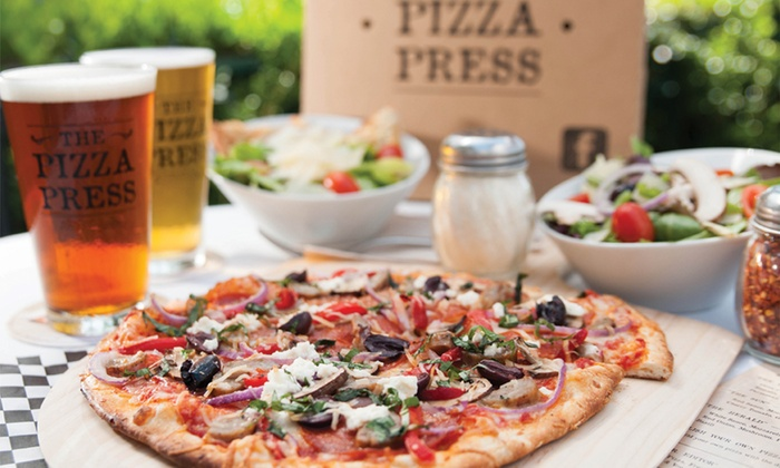 The Pizza Press - Old Town Orange: Two or Four Pizzas with Drinks at The Pizza Press (Up to 38%)