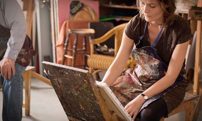 Wine and Design Triad - Jamestown: $17 for a Two-Hour BYOB Canvas-Painting Class at Wine and Design Triad ($35 Value)
