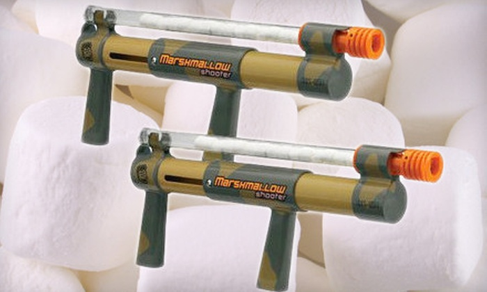 United National Consumer Suppliers: $15 for Two Camo Marshmallow Shooters ($51.90 List Price)