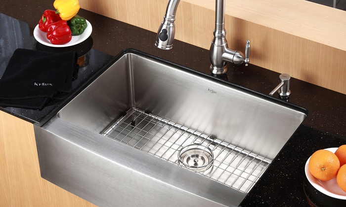 country style kitchen sinks kraus country style kitchen sink groupon goods 6223