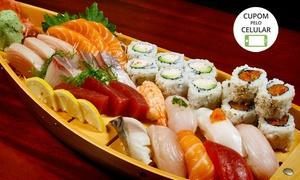 Kyara Sushi: Kyara Sushi - Rio Comprido: 50 hot filadélfia ou combinado japonês de 50 ou 90 peças