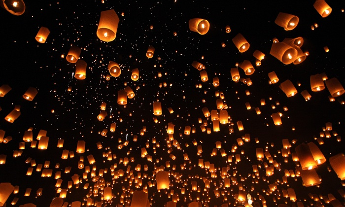 Chinese Sky Lanterns: Chinese Lanterns from Chinese Sky Lanterns (Up to 80% Off). Two Options Available.
