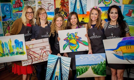 Two-Hour Painting Classes at Wine & Design Ft. Myers (Up to 46% Off). Two Options Available.