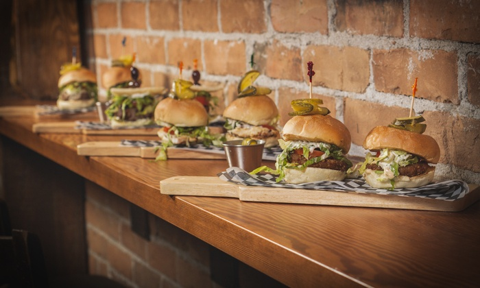 Sliderz Community House - Kelowna: C$13 for C$20 Worth of Gourmet Burgers at Sliderz Community House