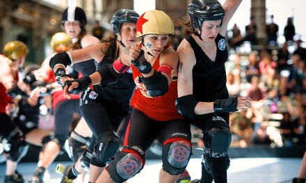 GA or VIP Package to an Angel City Derby Girls Doubleheader at Culver City Veterans Auditorium (Up to 38% Off)