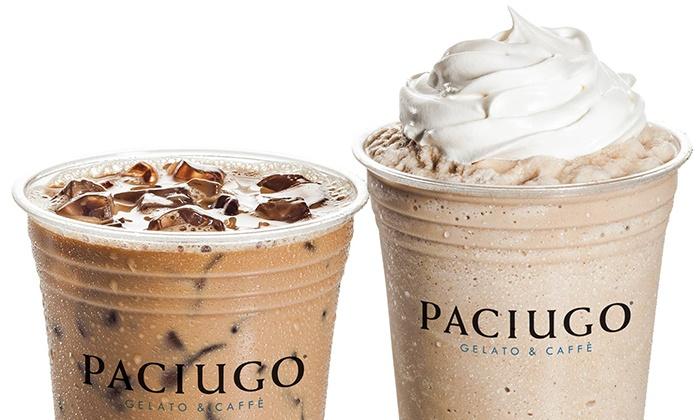 Paciugo Gelato & Cafè - Central Oklahoma City: $12 for Four Groupons, Each Good for $5 Worth of Beverages at Paciugo Gelato & Caffè  ($20 Value)