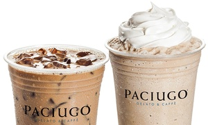 Paciugo Gelato & Cafè: $12 for Four Groupons, Each Good for $5 Worth of Beverages at Paciugo Gelato & Caffè  ($20 Value)