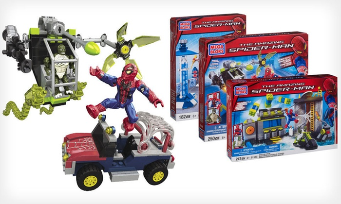 Mega Bloks Spider-Man Sets: Spider-Man Sets (Up to 30% Off). Three Options Available. Free Shipping on Purchases of $15 or More. Free Returns.