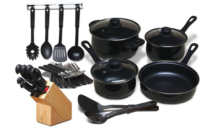 Carbon Steel Cookware Set and Kitchen Combo (32-Piece): Carbon Steel Cookware Set and Kitchen Combo (32-Piece)