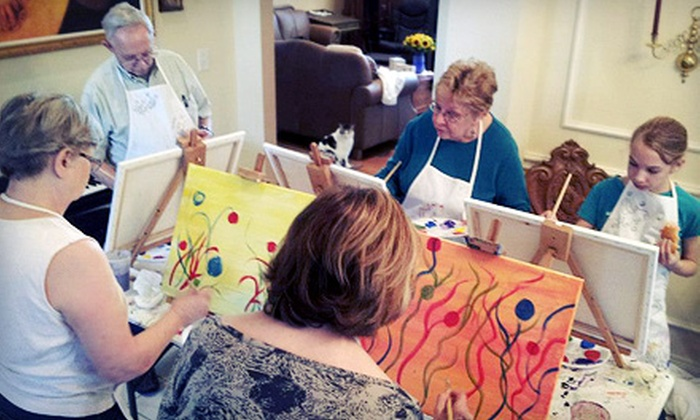 Paint Like Picasso - Kings Highway Conservation District: $199 for an At-Home or At-Office Art Party for 10 from Paint Like Picasso ($500 Value)