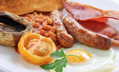 Full English or Vegetarian Breakfast for £5 at Foxy's Deli and Cafe