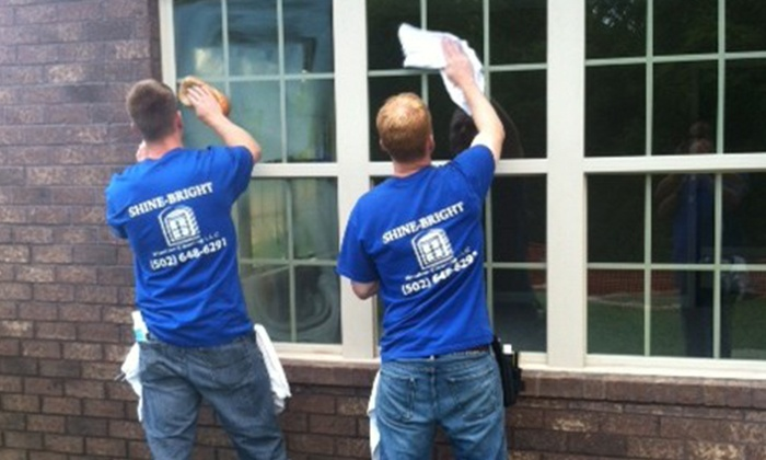 Shine-Bright Window Cleaning Company - Louisville: $99 for an Exterior Window-Cleaning Package from Shine-Bright Window Cleaning Company ($200 Value)