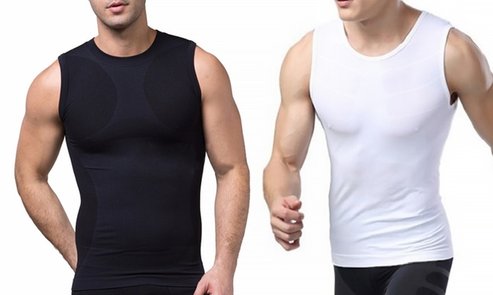 Heat Fit Men's Compression Sleeveless Shirt