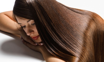Haircut with Partial Highlights, or Brazilian Blowout or Keratin Express Treatment at Headlines (Up to 72% Off)