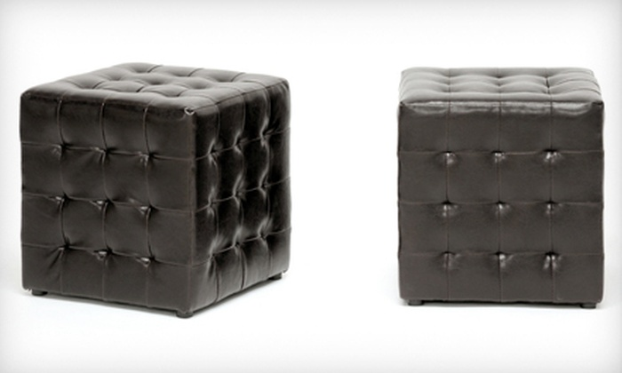 Tufted Cube Ottomans: $79 for Two Baxton Studio Siskal Dark Brown Tufted Modern Cube Ottomans ($189.99 List Price). Free Shipping.