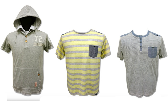 Brave Soul Men's Knit Shirts: Brave Soul Men's Knit Shirts. Multiple Styles Available.