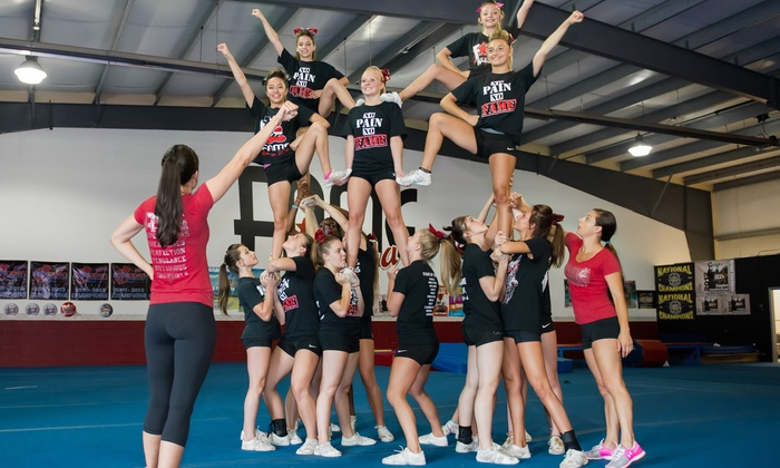Fame All Stars  - Charlotte: Cheer, Pre-School, or Tumbling Camp at Fame All Stars (Up to 50% Off). Four Options Available.