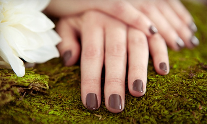 Artistic Creations - Grapevine: Mani-Pedis or Choice of Acrylic or Solar Nails at Artistic Creations (Up to 65% Off). Four Options Available.